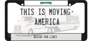 This Is Moving: America license plate