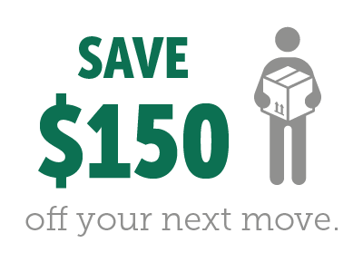 Save $150 off your next move.