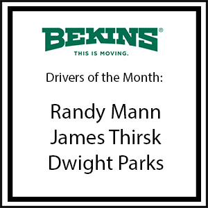 Bekins Drivers of the Month - December 2015