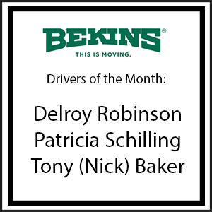 Bekins Drivers of the Month - January 16