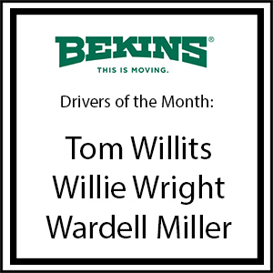 Bekins Drivers of the Month - February 2016