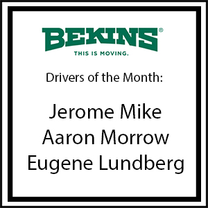 Bekins Drivers of the Month - May 2016