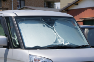 car with window covers