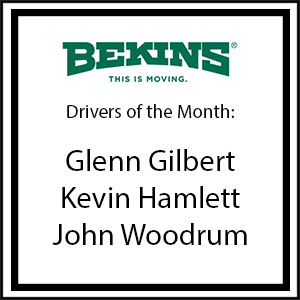 Bekins Drivers of the Month