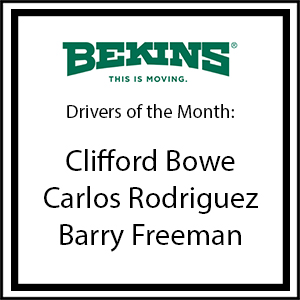 Bekins Drivers of the Month - February 2017
