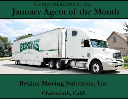 Bekins Moving Solutions Agent of the Month