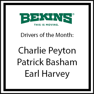 Bekins Drivers of the Month - July 2017