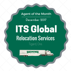 ITS Global Relocation Services Agent of the Month