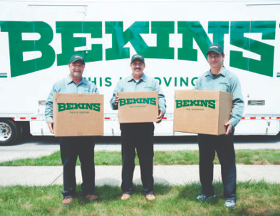 bekins movers in front of truck